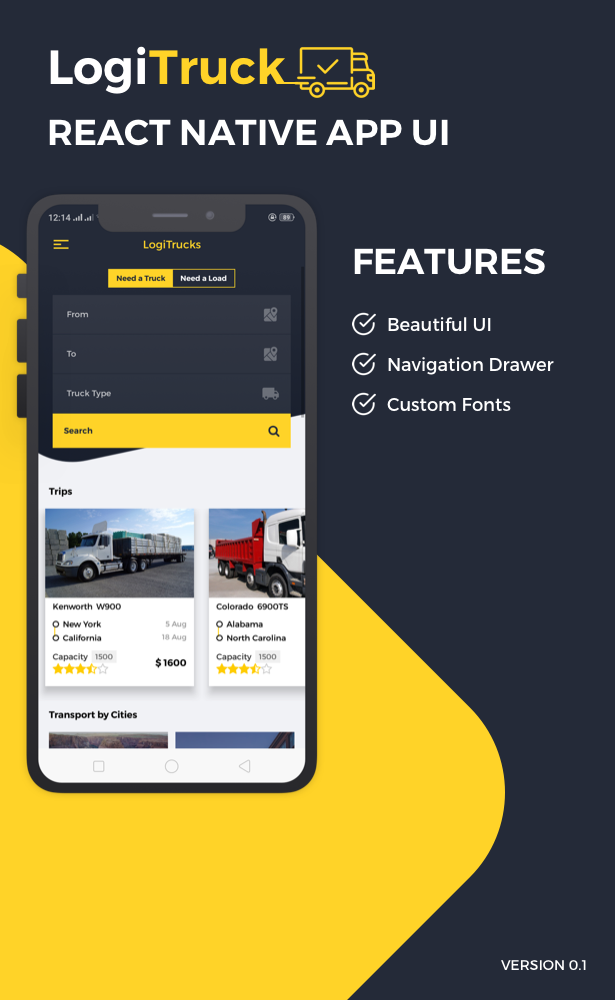 Logi Truck React Native Theme - 1