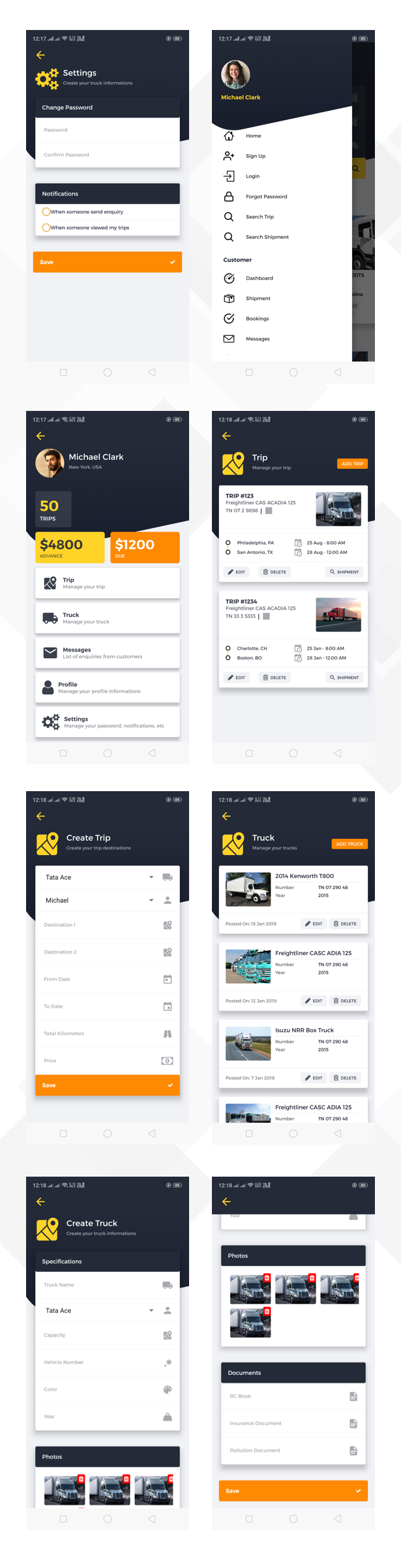 Logi Truck React Native Theme - 6
